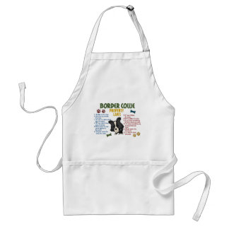 Border Collie Property Laws 4 Standard Apron