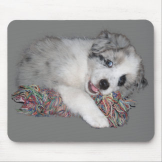 Border Collie pup Mouse Pad