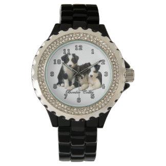 Border Collie Puppies Wrist Watch