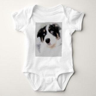 Border Collie Puppy Baby Bodysuit