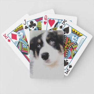 Border Collie Puppy Bicycle Playing Cards