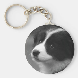 Border Collie Puppy Key Ring