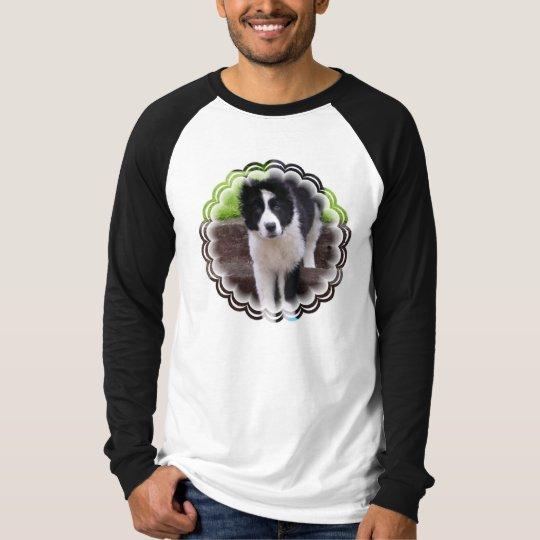 Border Collie Puppy Long Sleeve Men's Shirt