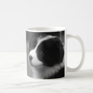 Border Collie Puppy Basic White Mug