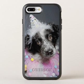 Border Collie Puppy Wearing Hat OtterBox Symmetry iPhone 8 Plus/7 Plus Case