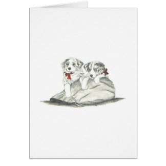 Border Collie Pups Greeting Card