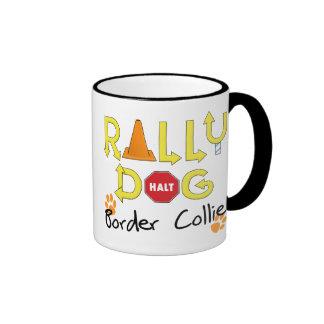 Border Collie Rally Dog Ringer Mug