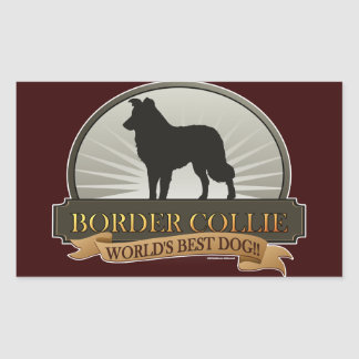 Border Collie Rectangular Sticker