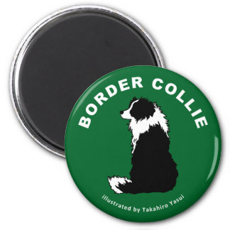 Border Collie Round Magnet