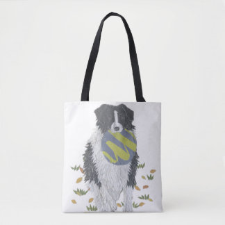 Border Collie, Sheepdog, Dog Art, Modern Tote Bag