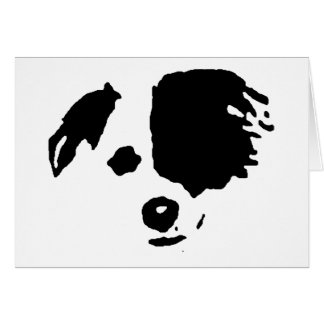 Border Collie Split Face Greeting Cards