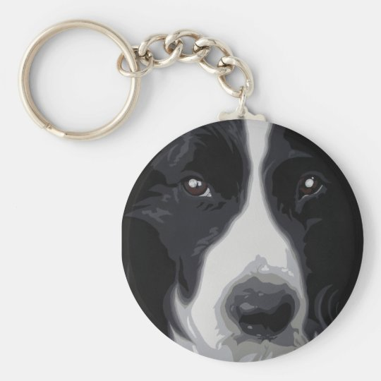 Border Collie 'sweet face' keyring keychain