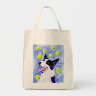 "Border Collie Tote Bag - ""Magpie's Gold"""
