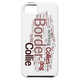 Border Collie Word Cloud iphone 5 vibe iPhone 5 C Case For The iPhone 5