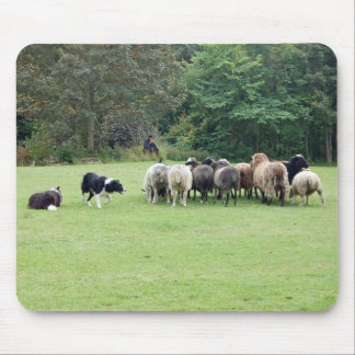 Border Collie working Mouse Mat