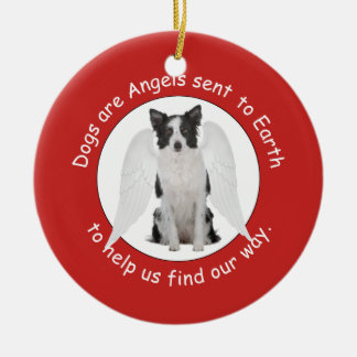 Border Collies Are Angels Ornament