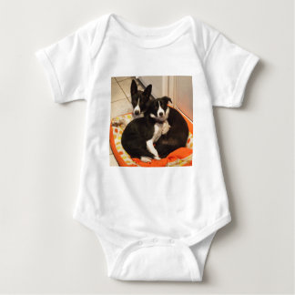 border collies baby bodysuit