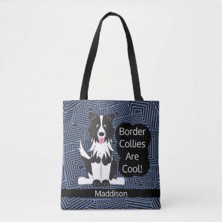 Border Collies Cool Abstract Custom Tote Bag