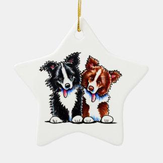 Border Collies Little League Christmas Ornament