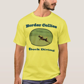 Border Collies Love Dock Diving Shirts (light)