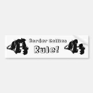 Border Collies Rule Funny Dog Bumper Sticker Car Bumper Sticker