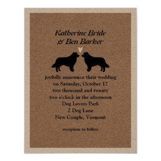 Border Collies Wedding Invitation
