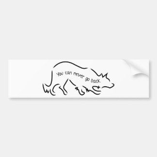 Border Collies - You Can Never Go Back Bumper Sticker