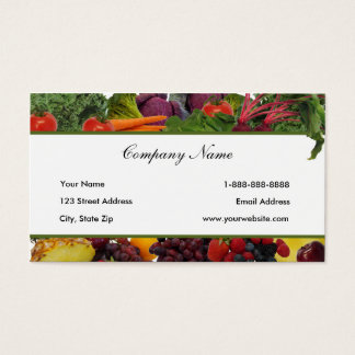 Border Fruit - Vegetable Business Cards