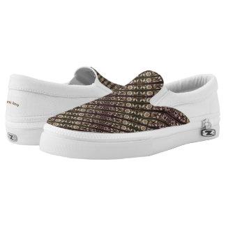 Border mix slip on shoes