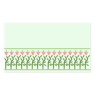 Border of tulip flowers pack of standard business cards