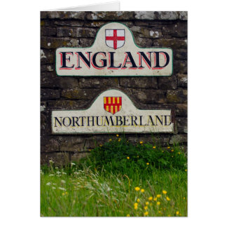 Border Sign, Border Between Scotland And England - Card