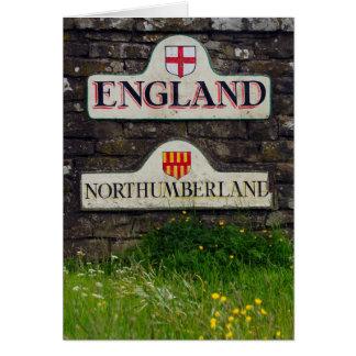 Border Sign, Border Between Scotland And England - Greeting Card