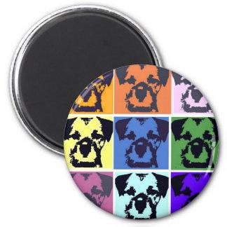 Border Terrier  6 Cm Round Magnet