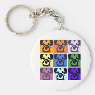 Border Terrier  Basic Round Button Key Ring