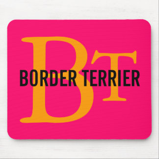 Border Terrier Breed Monogram Mouse Pad