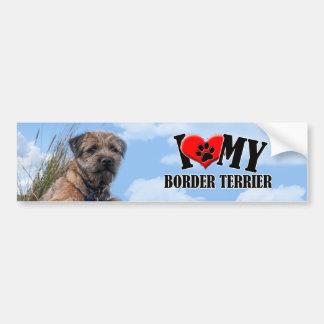 Border Terrier Bumper Sticker Car Bumper Sticker