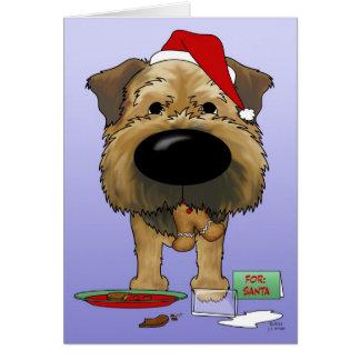 Border Terrier Christmas Greeting Card