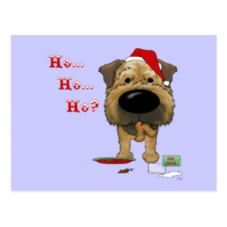 Border Terrier Christmas Postcards