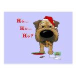 Border Terrier Christmas Postcards