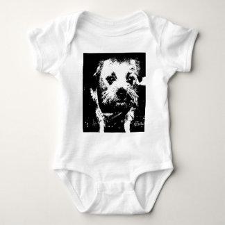 Border terrier cowboy dog. baby bodysuit