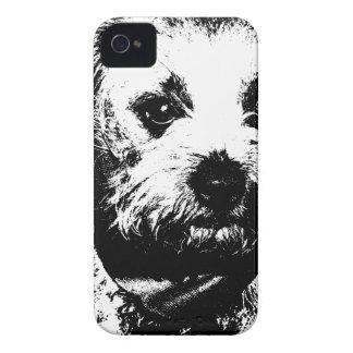 Border terrier cowboy dog. iPhone 4 Case-Mate cases