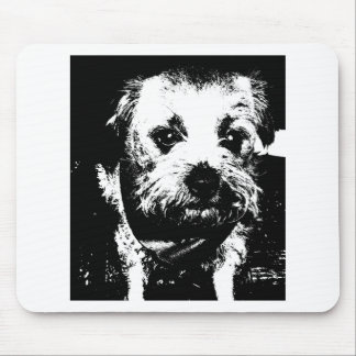 Border terrier cowboy dog. mouse pad