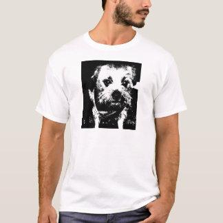 Border terrier cowboy dog. T-Shirt