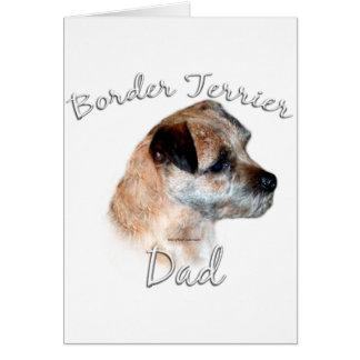 Border Terrier Dad 2 Card