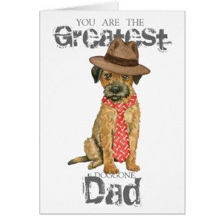 Border Terrier Dad Greeting Card