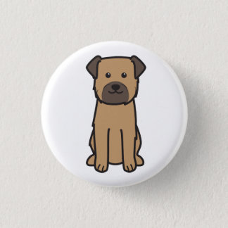 Border Terrier Dog Cartoon 3 Cm Round Badge