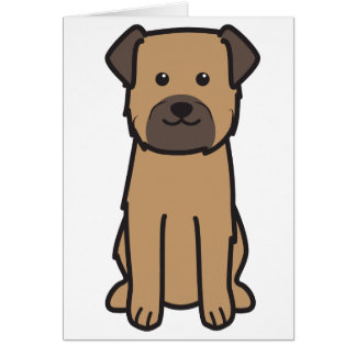 Border Terrier Dog Cartoon Card