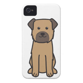 Border Terrier Dog Cartoon iPhone 4 Case-Mate Cases