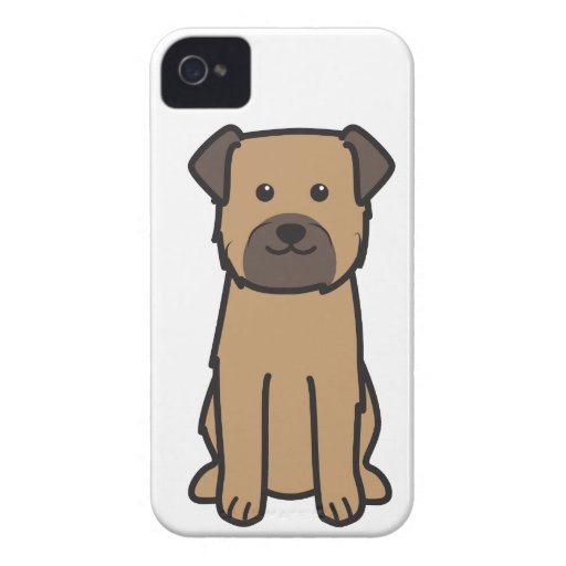 Border Terrier Dog Cartoon iPhone 4 Case-Mate Cases