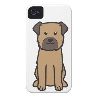 Border Terrier Dog Cartoon iPhone 4 Covers
